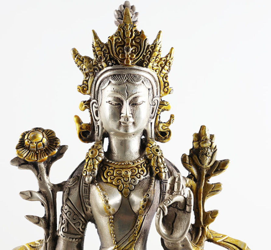 die weiße Tara friedvoller Bodhisattva des tibetischen Buddhismus
