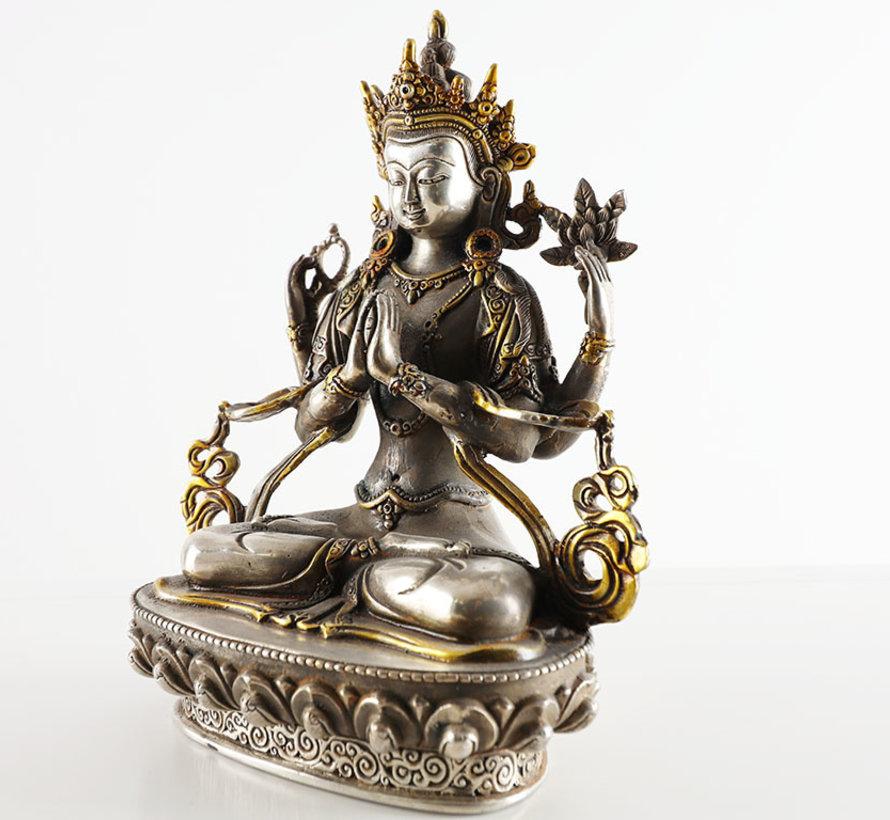 Tibetischer Chenrezig mit vier Armen der Bodhisattva des Mitgefühls