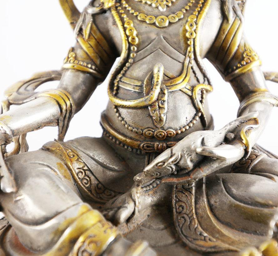 Jambhala Indien Gottheit des buddhistischer Reichtums Schätze hüter