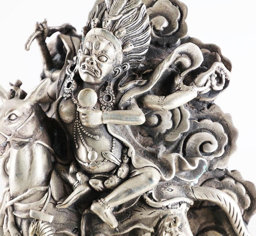 PaldenLhamo auf einem Esel reitend dargestellt tibetisch Schützerin