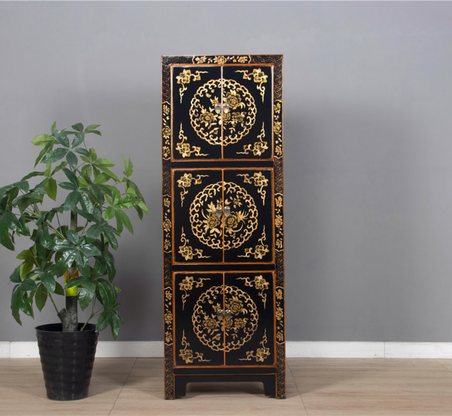 Wedding cabinet from China 6 doors painted black