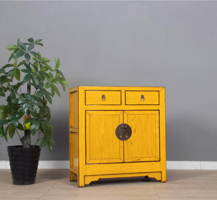 Kommode aus China 2 Türen 2 Schubladen gelb