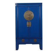 Yajutang Chinesischer Hochzeitsschrank blau