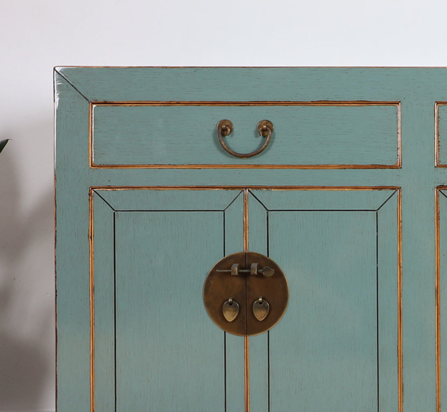 Chinese sideboard TV table chest of drawers gray