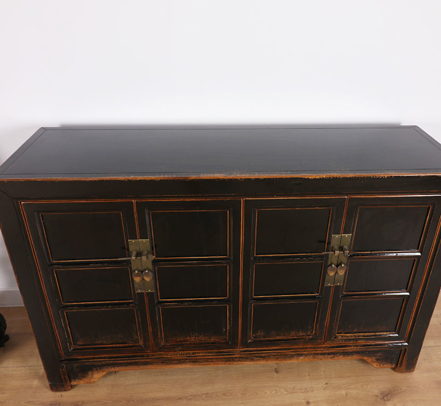 Antike dresser sideboard 4 doors black