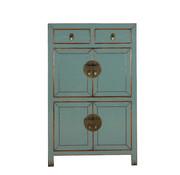Yajutang Chinese dresser cupboard 4 doors light gray