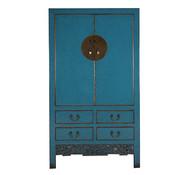Yajutang Antique wedding cabinet 2 doors blue