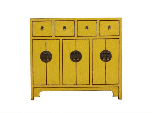 Yajutang Kommode 6 Türen 4 Schubladen gelb
