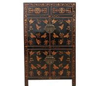 Yajutang Dresser 2 drawer 4 doors painted black