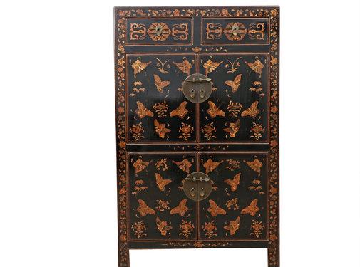 Yajutang Dresser 2 drawer 4 doors painted black
