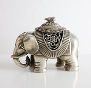 Yajutang Elephant with pumpkin lid incense censer