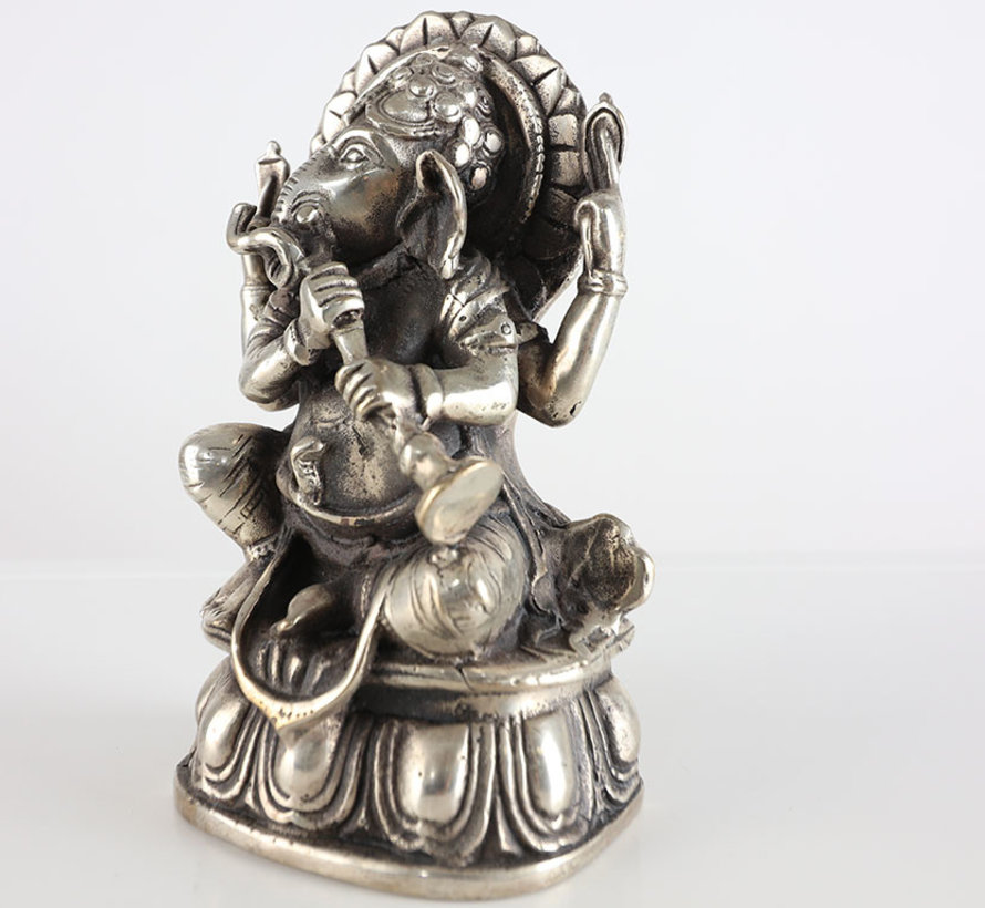 Ganesha god of wisdom and wealth Tibet China brass figures