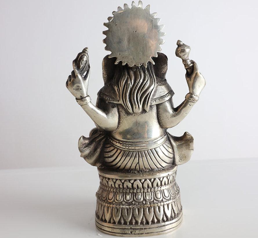 Ganesha Gott des Weisheit und Reichtums Tibet China Messing Figuren