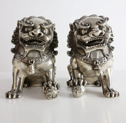 Yajutang Pair of Fu dogs Guardian lions Temple lions