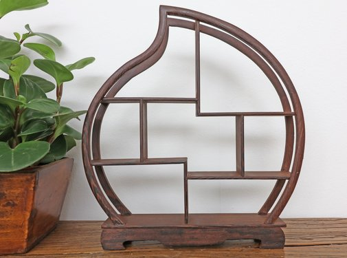 Yajutang Curio wooden shelf decorative shelf 31cm