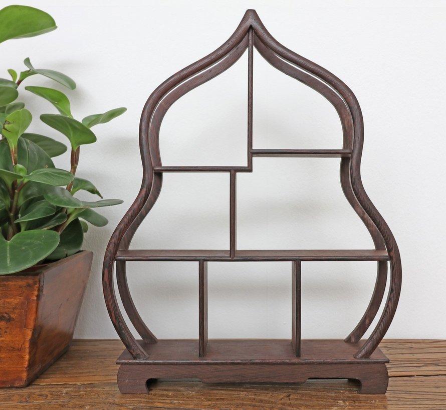 Curio wooden shelf decorative shelf 34cm