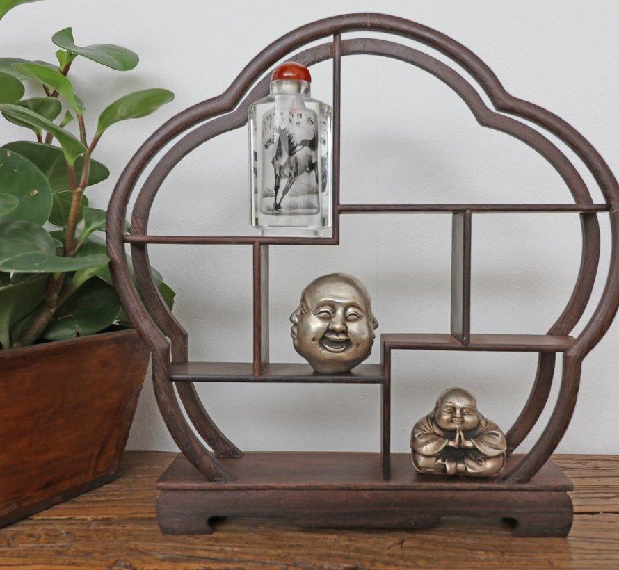 Curio wooden shelf decorative shelf 30cm