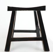 Yajutang Sitzhocker Holzhocker schwarz