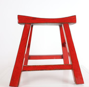 Yajutang Sitzhocker Holzhocker rot