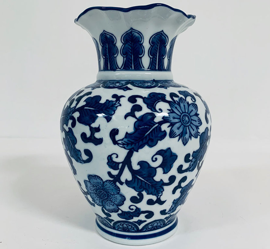 Chinese porcelain lidded vase 23 cm high Ø 17cm