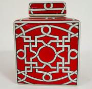 Yajutang Chinesische Porzellan Square Deckelvase