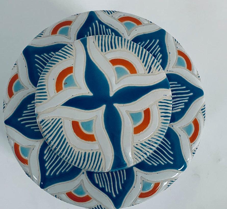 Chinesische Porzellan Deckelvase  32 cm hoch Ø 20cm