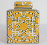 Yajutang Chinese Porcelain Square Lid Vase