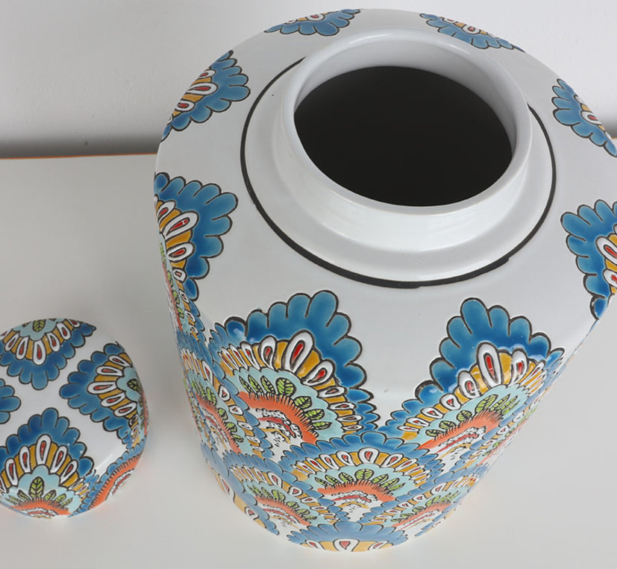 Chinese porcelain lidded vase 32 cm high Ø 19
