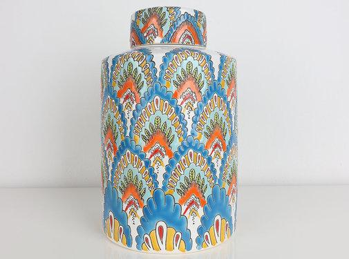 Yajutang Chinese porcelain lidded vase