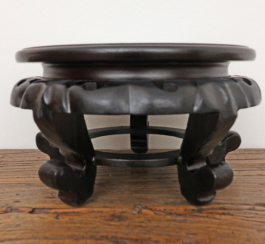 Wooden base coaster small table Ø16 cm