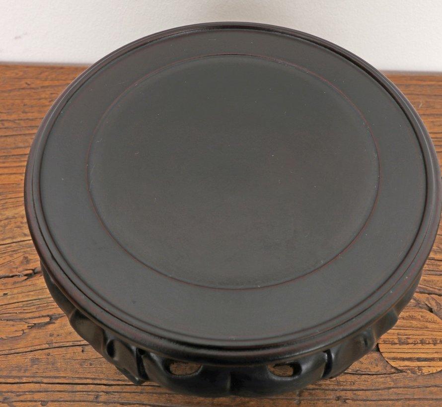 Holzsockel Untersetzer kleiner Tisch Ø16 cm