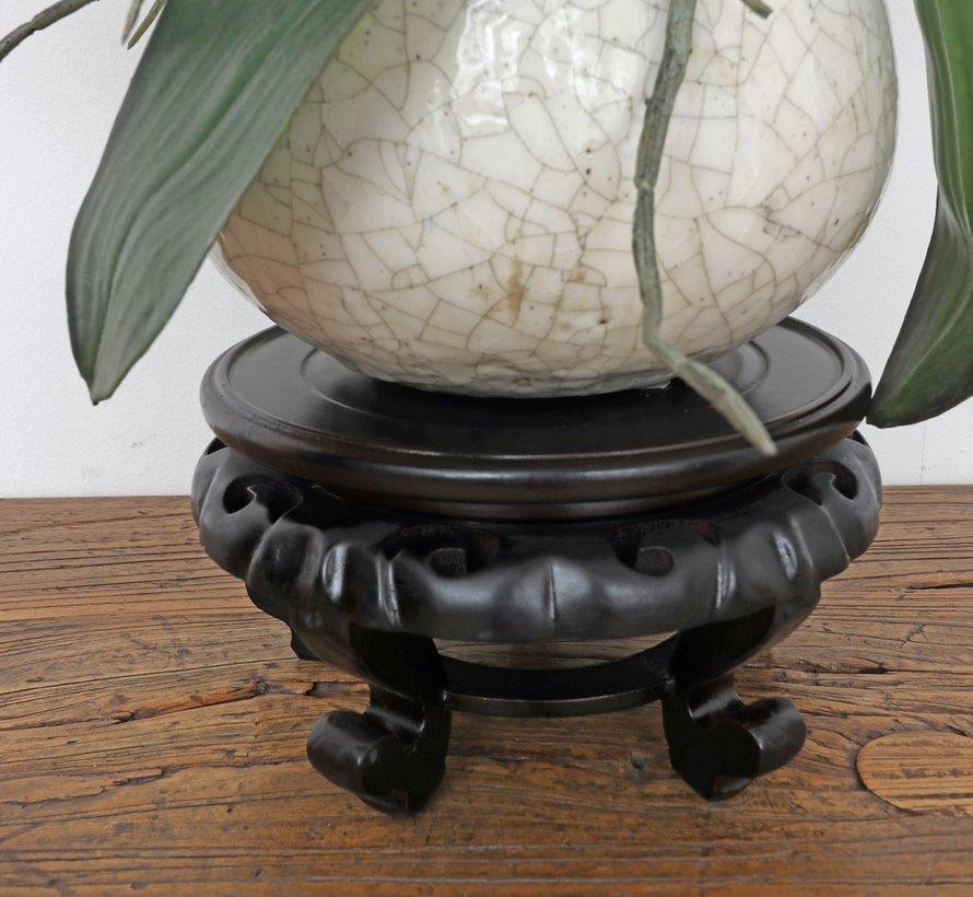 Holzsockel Untersetzer kleiner Tisch Ø17 cm
