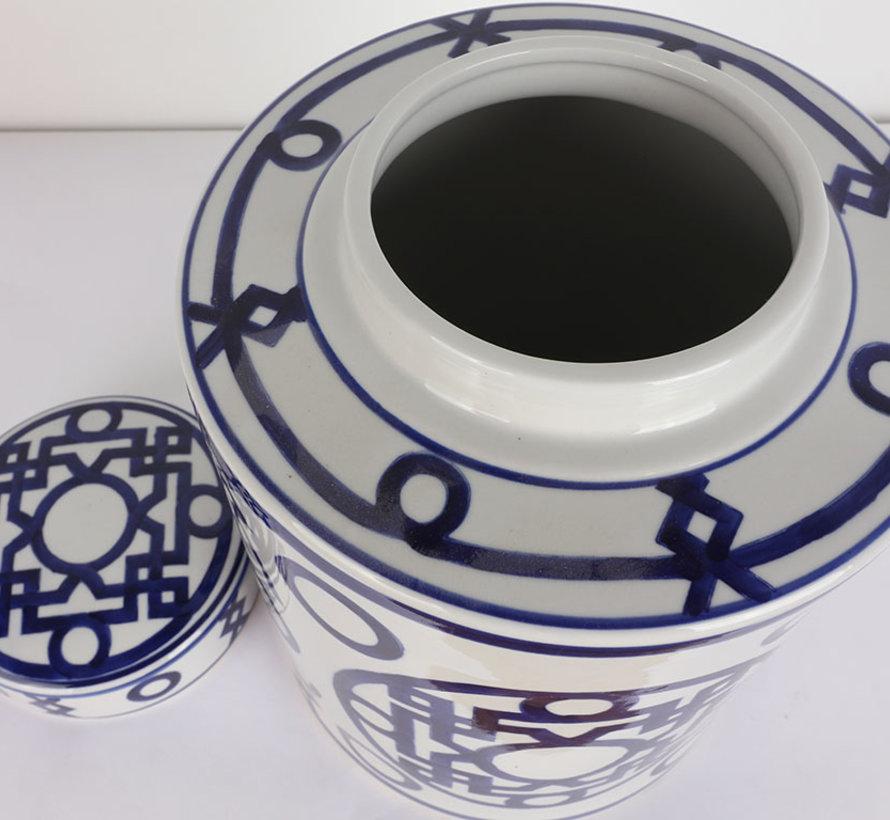 Chinese porcelain lidded vase 28 cm high Ø 20cm