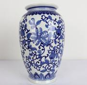 Yajutang Chinese porcelain lidded vase flowers