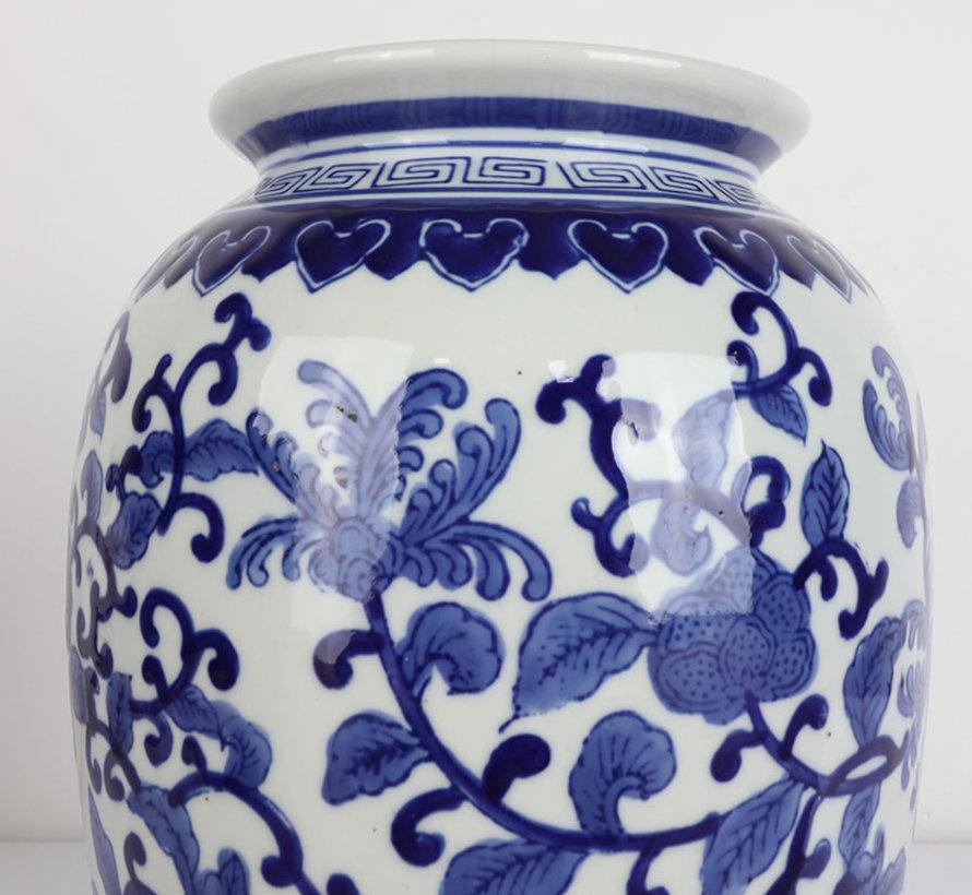 Chinesische Porzellan Deckelvase  30 cm hoch Ø 20cm