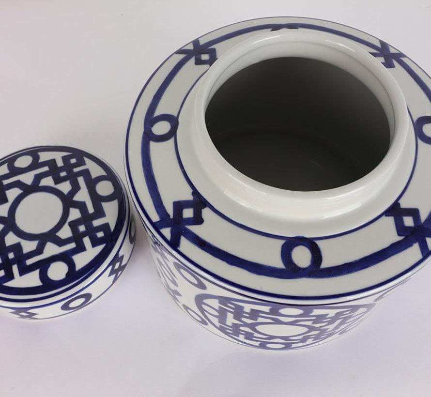 Chinese porcelain lidded vase 18 cm high Ø 18cm