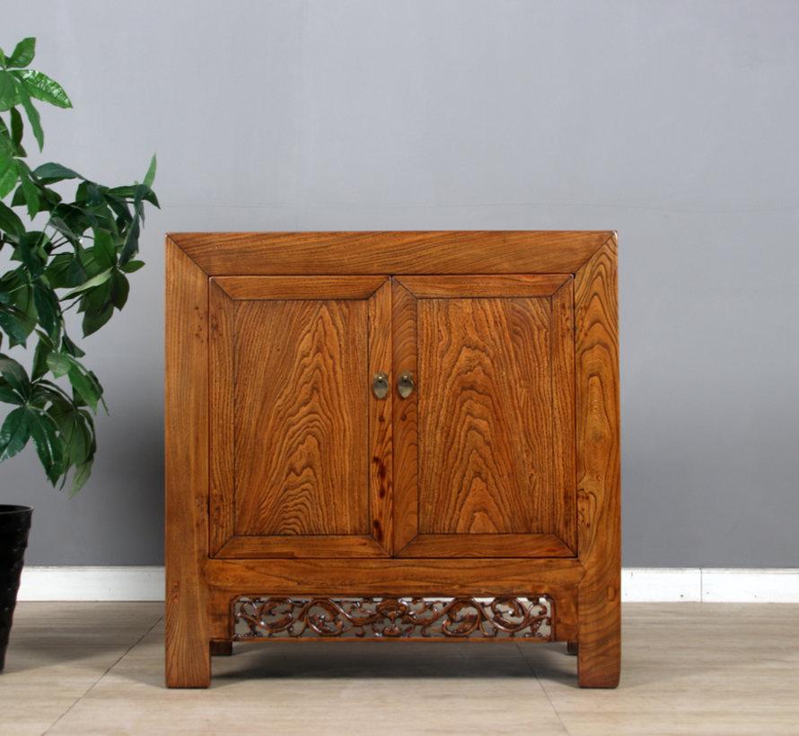 Antike chinesische Kommode 2 Türen 2 Schubladen braun