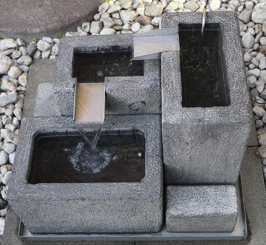 Naturstein Brunnen gartenbrunnen zierbrunnen Garten Deko