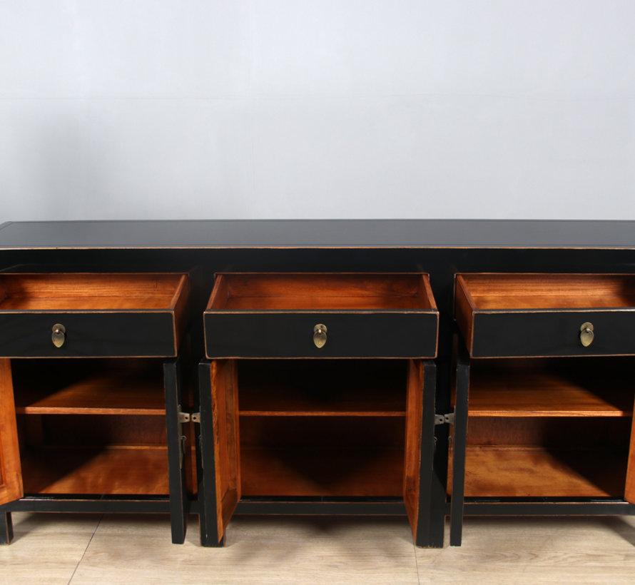 Chinese dresser sideboard 6 doors 3 drawers black