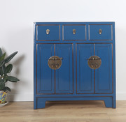 Yajutang Dresser 3 drawer 4 doors blue