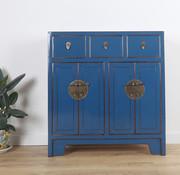 Yajutang Kommode 3 Schublade 4 Türen blau