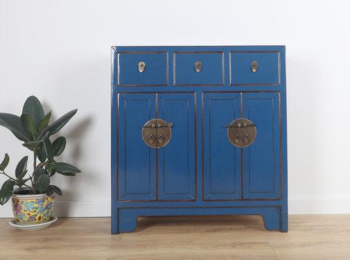 Yajutang Dresser 3 drawer 4 doors blue
