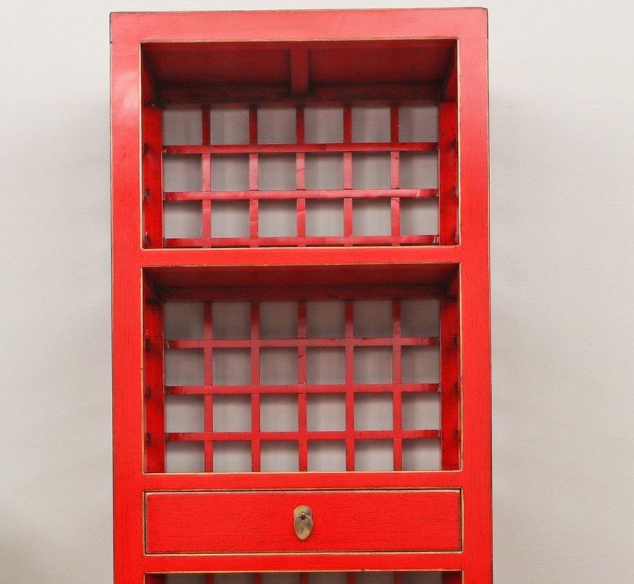 Chinesischer Hochzeitschrank 2 Türen 1 Schublade