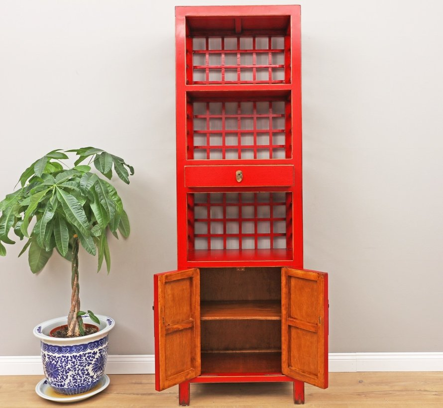 Chinese wedding cupboard 2 doors 1 drawer