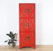 Yajutang chinesischer Hochzeitsschrank 6 Türen bemalt