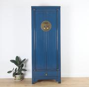 Yajutang Hochzeitschrank 2 Türen 1 Schublade blau