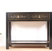 Yajutang Konsolentisch aus massivem Holz schwarz