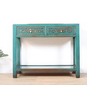 Yajutang Solid turquoise console table