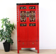 Yajutang chinese cabinet carving red