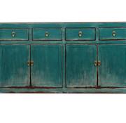 Yajutang Sideboard 4 doors 4 drawers used turquoise